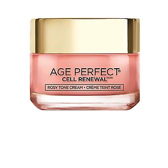 L'Oréal Paris Face Moisturizer Age Perfect Cell Renewal Tinted Rosy Tone Day Cream with LHA & Imperial Peony Extract Fragrance-Free, 50 ml