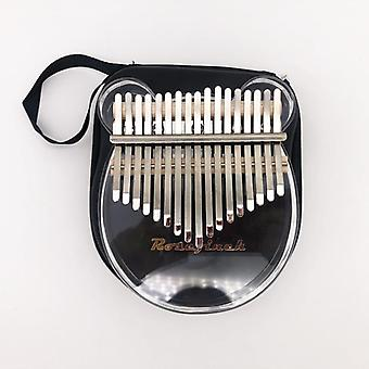 Kimi Kalimba 17 Keys Thumb Piano Transparent, Musical Keyboard Instrument,