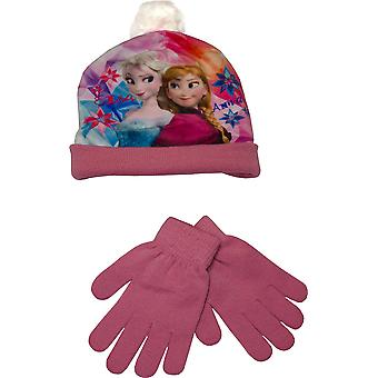 Dívky RH4026 Disney Frozen Winter 2 Ks set klobouk a rukavice set