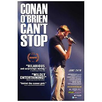 Conan OBrien Cant Stop elokuvan juliste tulosta (27 x 40)
