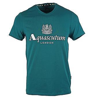 Aquascutum Griffin Logo Grün T-Shirt