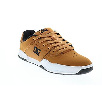 DC Central Mens Brown Nubuck Lace Up Skate Sneakers Schoenen