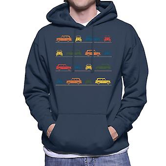 London Taxi Company TX4 Angled Colourful Montage Men's Hooded Sweatshirt