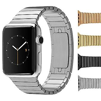 Strapsco solid stainless steel link bracelet for apple iwatch