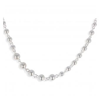 Silver Necklace Ball Fall 45cm