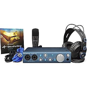 Presonus audiobox itwo studio usb 2.0 recording bundle w/headphones,microphone & studio one software