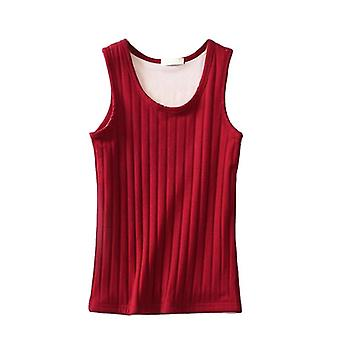Women Sexy Solid Velvet Warm Knited Vest Slim Winter Ladies Lined Stretch