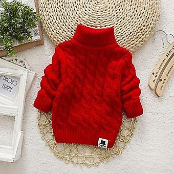 Kids Turtleneck Pullover Sweater For Winter