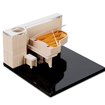 3D Klavier Schnitzen Convenience Aufkleber Papiere Karte Handwerk Liebe Geschenk Geburtstagsgeschenk