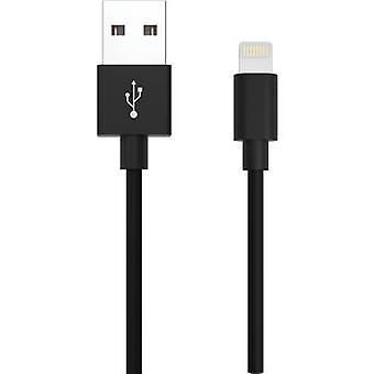 Ansmann iPad/iPhone Cavo dati/charger cavo [1x connettore USB 2.0 A - 1x tappo fulmine Apple Dock] 2.00 m Nero