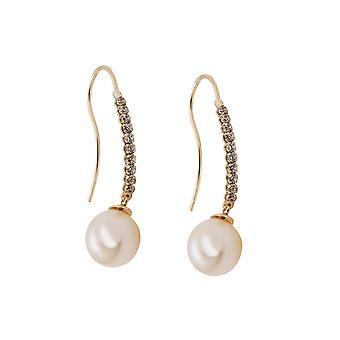 Earrings Hooks Pearl/zirconias 9k Gold