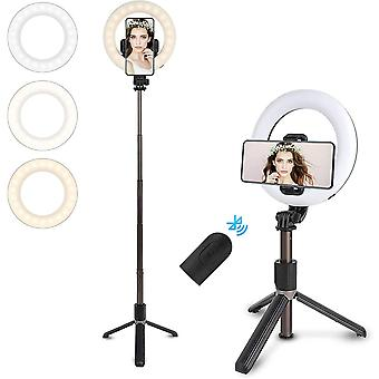 LED Ring Light with Tripod Stand for Live Streaming & YouTube Video