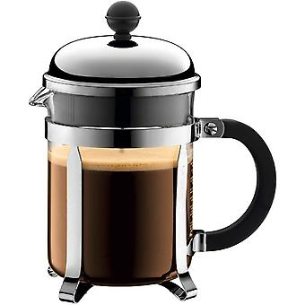 BODUM Chambord 4 Cup French Press Coffee Maker, Chrome, 0.5 l