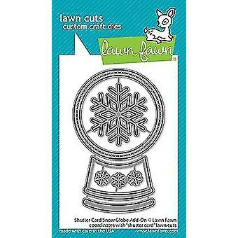 Lawn Fawn Shutter Card Snow Globe Add-On Dies