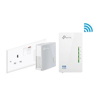 Tp-link tl-wpa4220kit 2-port powerline adapter wifi starter kit, range extender, broadband/wifi exte