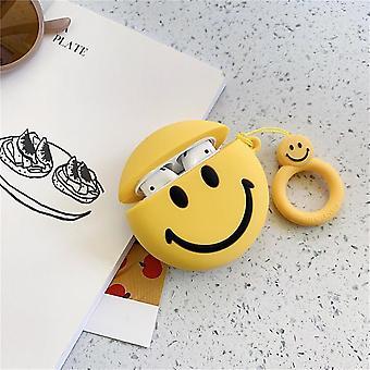 Cute Smile Face Bluetooth Headset Fall für Airpods Fall Silikon weich