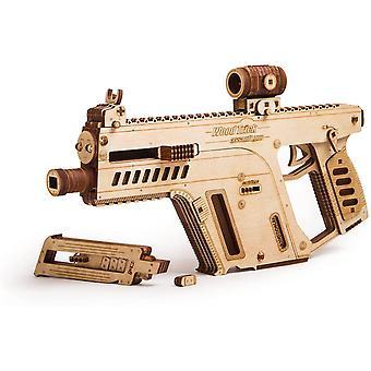 Wood Trick Assault Rifle Gun Wooden Model - Toy Gun, Guns for Kids - 3D Wooden Puzzle
