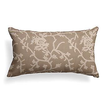 """Ivy Crewel Embroidery Lumbar Pillow 22""""X12"""""""