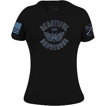 Grunt Style Women's Beautiful and Dangerous T-Shirt - Black