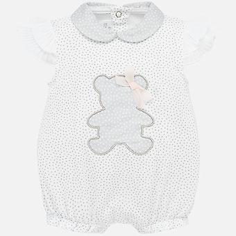 Mayoral baby girls grey romper 1753