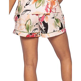 Cyberjammies Natalie 4797 Women's Peach Mix Floral Cotton Pyjama Short