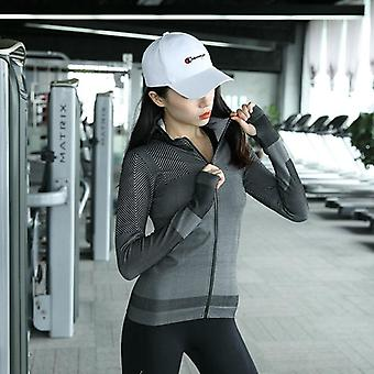 Women Hooded Running Jacket With Long Sleeve