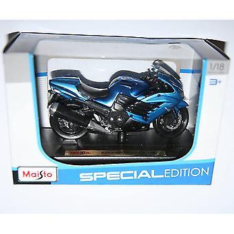 Maisto Edycja Specjalna Motocykl 1:18 Kawasaki Ninja ZX 14R Niebieski