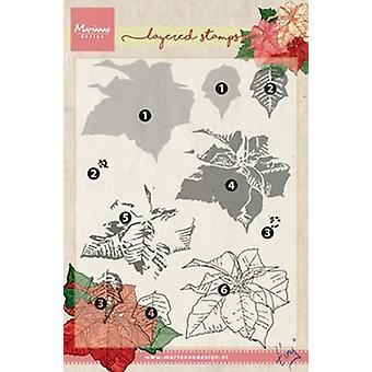 Marianne Design Stamps Layering Tiny's Poinsettia Tc0859