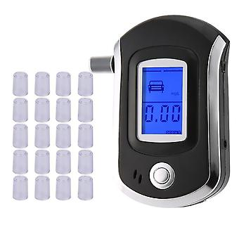 Professionele digitale adem alcohol tester breathalyzer met lcd-display met10 filter tip