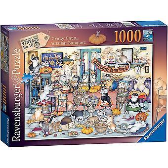 Ravensburger 16509 crazy katter høst bankett puslespill 1000 stykke