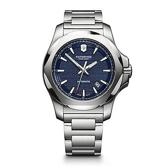 Victorinox Swiss Army 241835 I.n.o.x. Mechanical Blue & Silver Stainless Steel Men's Watch