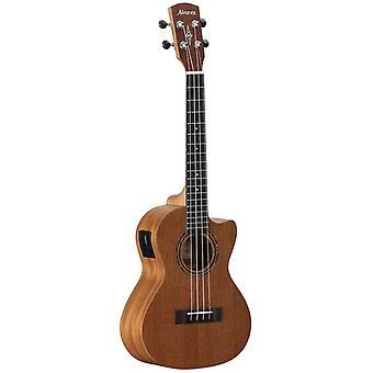 Alvarez regent ru22cce 4-string concert semi-acoustic ukulele with cutaway, eq and tuner, 19 frets, mahogany neck, techwood fingerboard, ps72647
