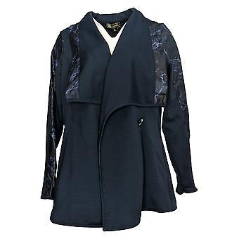 DG2 Af Diane Gilman Women's jakke Ponte Knit Shawl Collar Blue 741802