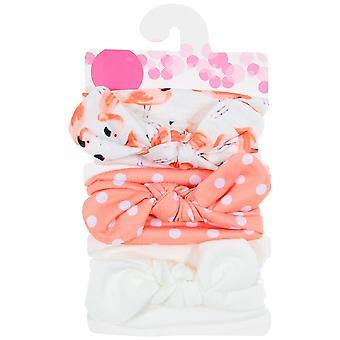 New Baby Cotton Blend Headbands Dot Printed Knot Hairbands Headwear Set