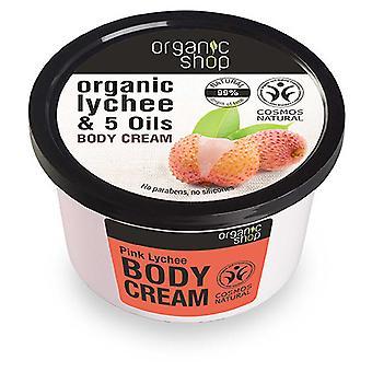 Organic Shop Crema Corporal de Lichi y Aceites Orgánicos 250 ml