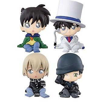 4pcs Figura Set Detetive Conan Toy Doll Anime Collection