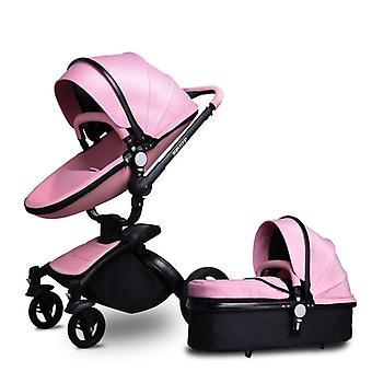 Baby Stroller 360 Rotate Golden Frame