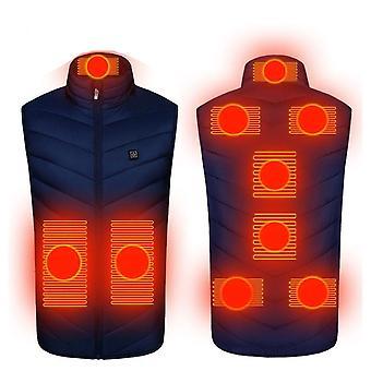 9 Zone Barbati Incalzite, Smart Cotton/USB Electric Heating Vest, Infrarosu, Exterior