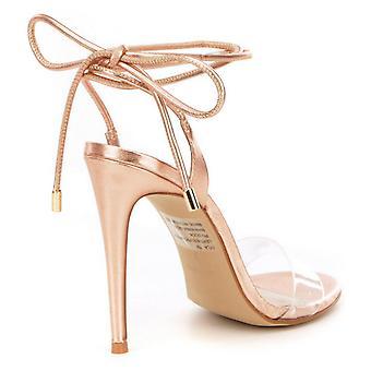 Steve Madden Womens Lyla Open Toe ocasião especial tornozelo cinta sandálias