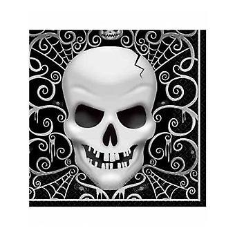 16 Halloween Death Hoofd Papieren Handdoeken 33 x 33 cm
