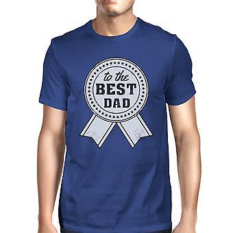To The Best Dad Mens Blue Graphic T-shirt Unique