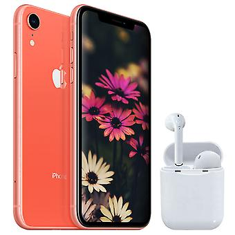 iPhone XR Coral 64GB + Auriculares inalámbricos