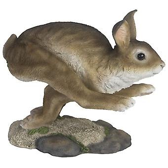 bunny 24.8 x 19.9 cm polyresin brown/white