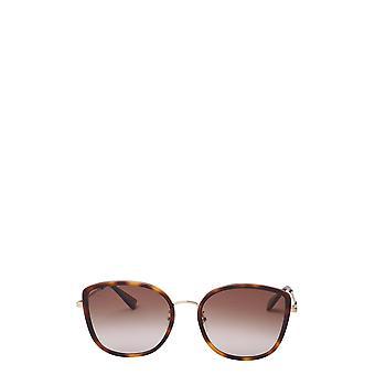 Gucci GG0606SK havana kvindelige solbriller