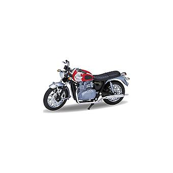Welly Model  Triumph Bonnrville T100 Red 1:18