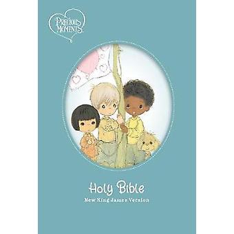 NKJV Precious Moments Small Hands Bible Hardcover Teal Comfort Print