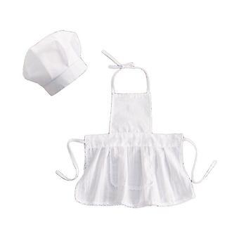 Baby Chef șorț și pălărie copii copii alb cook fotografii costum.