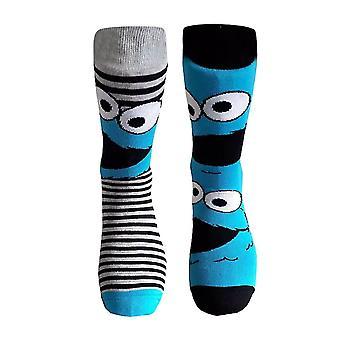 Sesame Street Cookie Monster Crew Socks (2 Pairs)
