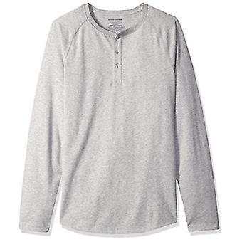 Essentials Men's Slim-Fit Long-Sleeve Henley Shirt