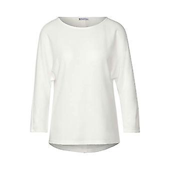 Street One 315283 3/4 Fledermausarmel mit U-Boot Ausschnitt Camiseta, Blanco sucio, 48 Mujer
